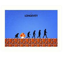 99 Steps of Progress - Longevity Art Print