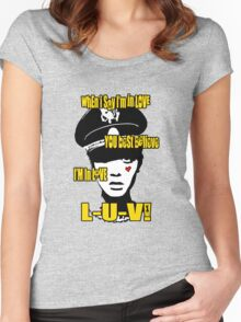 L-U-V! x. Women's Fitted Scoop T-Shirt