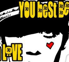 L-U-V! x. Sticker