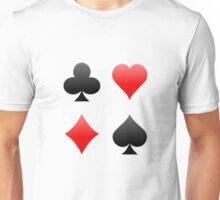 Poker / Blackjack Card Suits Unisex T-Shirt