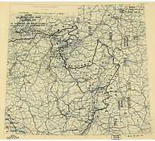 March 31 1945 World War II HQ Twelfth Army Group situation map Photographic Print