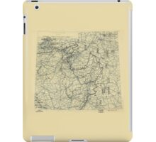March 31 1945 World War II HQ Twelfth Army Group situation map iPad Case/Skin