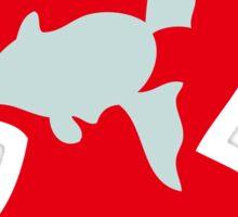 PKMN Silhouette - Remoraid Family Sticker