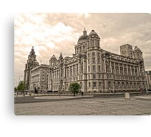 The 3 Graces Of Liverpool 2 Canvas Print