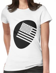 Legalized flag - black Womens Fitted T-Shirt