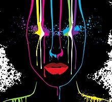 Afro Girl Print by pixelfreak