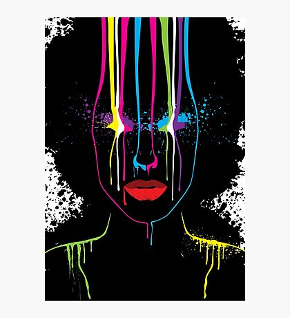 Afro Girl Print Photographic Print