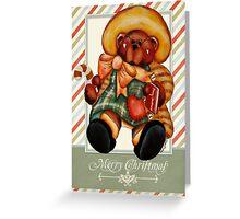 Vintage bear  Greeting Card