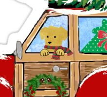 Christmas Woody Wagon- Bringing Home the Xmas Tree Sticker