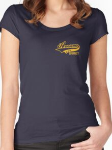 AWESOME BARNEY (yellow type) Women's Fitted Scoop T-Shirt