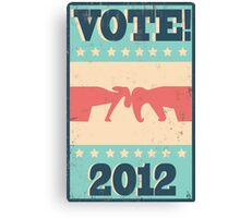 Vote 2012 Canvas Print