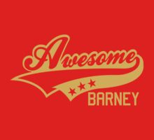 AWESOME BARNEY (yellow type) big version Kids Clothes