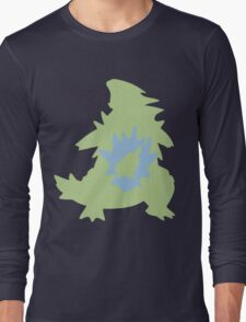 PKMN Silhouette - Larvitar Family Long Sleeve T-Shirt