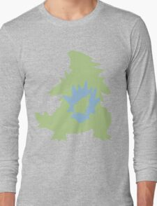 PKMN Silhouette - Larvitar Family Long Sleeve T-Shirt
