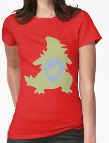 PKMN Silhouette - Larvitar Family Womens Fitted T-Shirt