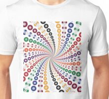 Billiards / Pool Balls Spiral Unisex T-Shirt