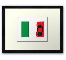 Ferrari F40 Over the Italian Flag Framed Print