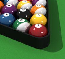 Billiards / Pool Balls on Table Sticker