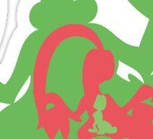 PKMN Silhouette - Treecko Family Sticker
