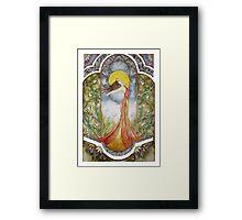 Lily Nouveau Framed Print