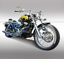 H D Dyna Twin Motorcycle 3 by DaveKoontz