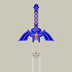 Zelda Master Sword Vector Graphic by Aaron Pacey