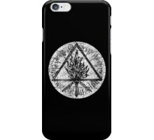 ANCIENT FIRE SYMBOL - extreme white distress iPhone Case/Skin