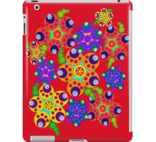 Carnival Colors Flowers on Red iPad Case iPad Case/Skin