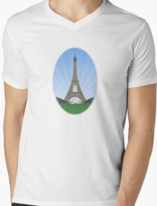 Eiffel Tower in Paris Mens V-Neck T-Shirt