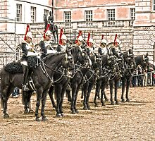 The Queens Blue Horseguards by DavidWHughes