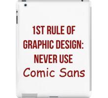 Graphic Design Comic Sans Typography iPad Case/Skin
