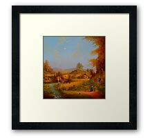 A View To The Hill. Framed Print