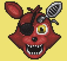 Adventure Withered Foxy - FNAF World - Pixel Art One Piece - Short Sleeve