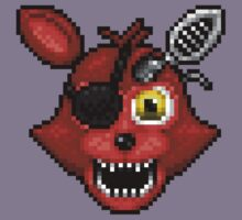 Adventure Withered Foxy - FNAF World - Pixel Art Kids Tee