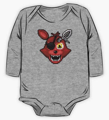 Adventure Withered Foxy - FNAF World - Pixel Art One Piece - Long Sleeve