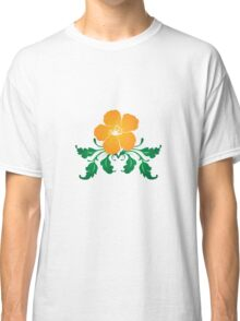 Vector Flower with Flourishes Classic T-Shirt