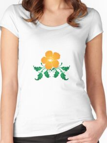 Vector Flower with Flourishes Women's Fitted Scoop T-Shirt