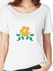 Vector Flower with Flourishes Women's Relaxed Fit T-Shirt
