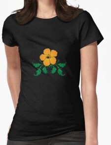 Vector Flower with Flourishes Womens Fitted T-Shirt