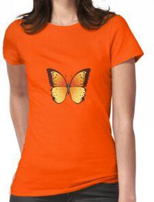 Vector Butterfly Womens Fitted T-Shirt