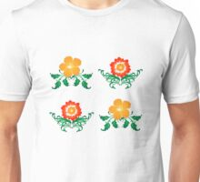 Vector Flower Pattern Unisex T-Shirt