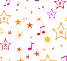 Musical Notes and Stars Sticker