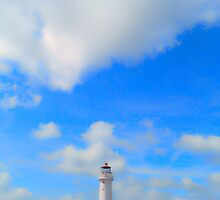Lighthouse and Summer Skies by DavidWHughes