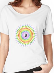 Yin Yang and Spiral Graphic Women's Relaxed Fit T-Shirt