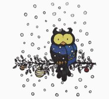 Owl in the snow Kids Clothes
