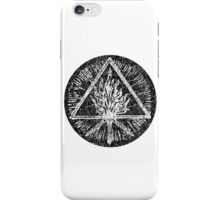 ANCIENT FIRE SYMBOL - extreme black distress iPhone Case/Skin
