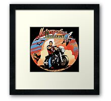 Motorcycles and dinosaurs Framed Print