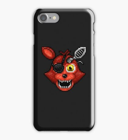 Adventure Withered Foxy - FNAF World - Pixel Art iPhone Case/Skin