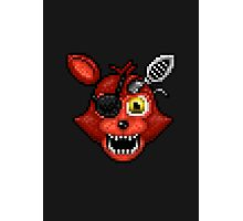 Adventure Withered Foxy - FNAF World - Pixel Art Photographic Print