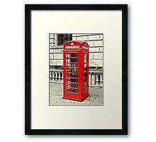 Whitehall Phone Box Framed Print